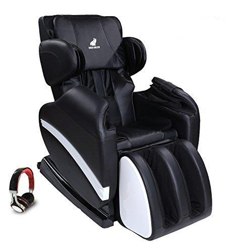 SUNCOO Full Body Shiatsu Massage Chair Recliner w/Heat Stretched Foot Rest Black