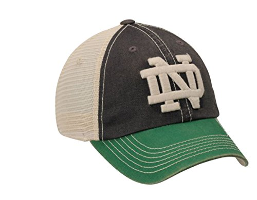Football Game Time Trucker Hats (Top of the World Indiana Notre Dame Adjustable Liberty Two-tone Hat)