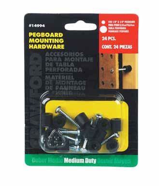 Crawford Pegboard Mounting Kit - 12 Count