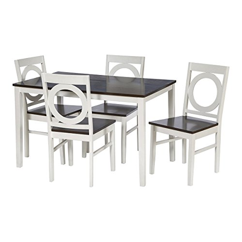 Modern 5 Piece Dining Set With Тable And 4 Chairs In Casual Style From Reclaimed Wood plus FREE GIFT