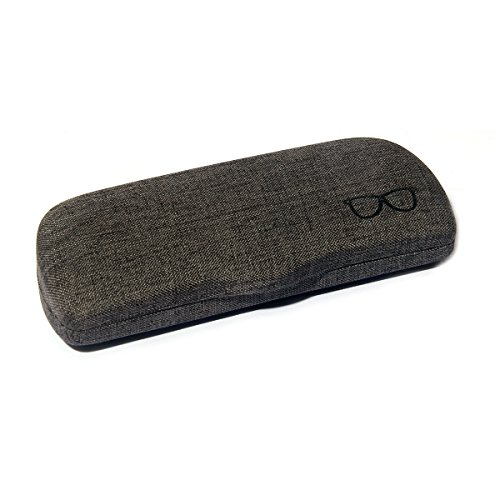Polemax Original Retro Linen Fabric Eyewear Eyeglass Case Hard Protector Holder Small Type Sunglasses & Small to Medium Glasses Size Frame - Glasses Cool Case