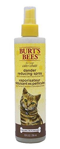 Burts Bees for Cats Dander Reducing Spray with Colloidal Oat Flour and Aloe Vera, 10 Ounces