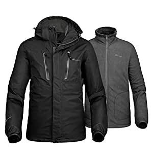 Amazon.com : OutdoorMaster Men's 3-in-1 Ski Jacket