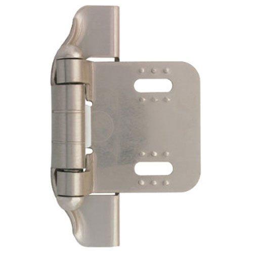 Liberty H01911C-SN-O 1/4-Inch Semi-Wrap Overlay Hinge ()