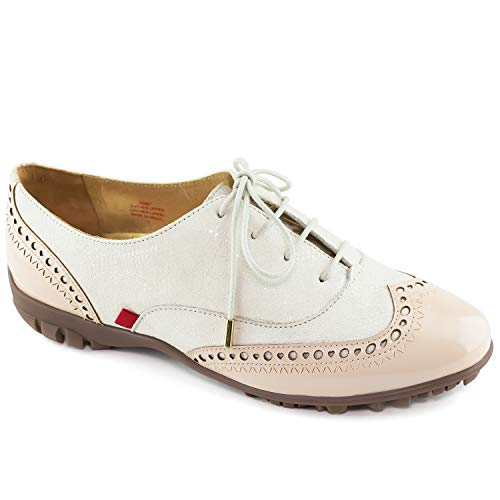 (Womens Genuine Leather Made in Brazil NYC Cream Glaze/Nude Patent 9.5)
