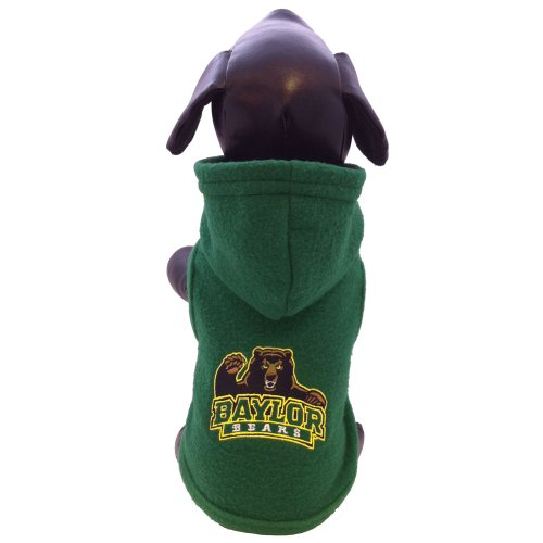 - NCAA Baylor Bears Collegiate Polar Fleece Hooded Dog Jacket (Small)