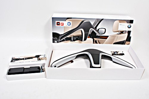 Genuine BMW TRAVEL & COMFORT Headrest Base Attachment Carrier + Coat Hanger