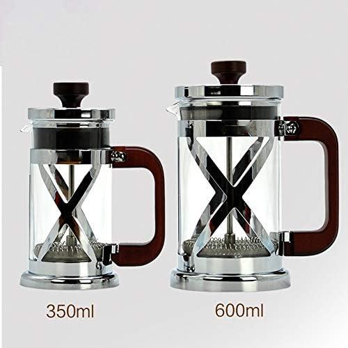 フレンチプレスポット フレンチプレスポットフィルタープレス家庭用ハンドブリュコーヒーメーカー耐熱ガラス フレンチプレスコーヒーメーカー (色 : Silver, Size : 350ml)
