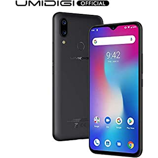 "UMIDIGI Power Unlocked Cell Phones, Android 9.0 Smartphone 6.3"" FHD+ Waterdrop Full Screen, 16MP+5MP Dual Rear Camera 64GB+4GB RAM 5150mAh Battery 18W Fast Charge Dual 4G (Black)"