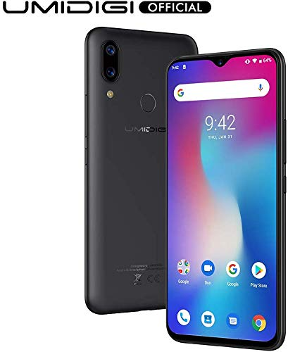 UMIDIGI Power Unlocked Cell Phones, Android 9.0 Smartphone 6.3″ FHD+ Waterdrop Full Screen, 16MP+5MP Dual Rear Camera 64GB+4GB RAM 5150mAh Battery 18W Fast Charge Dual 4G (Black)
