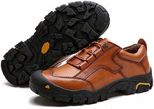 本革ウォーキングシューズレースアップシューズメンズメッシュ スリッポンル アウトドアシューズ スニーカー カジュアスポーツ シューズ 軽量 通気 男性靴 運動登山靴ハイキングシューズ