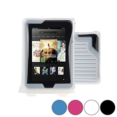 DiCAPac WP-T7 Universal Waterproof Case for Sharp Aquos Pad SH-06F in White...