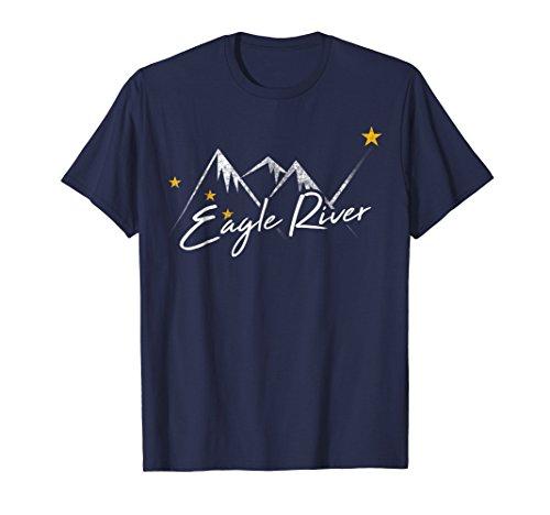 (Eagle River Alaska Flag Mountains Shirt Distressed State Sou )