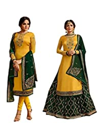 STELLACOUTURE Eid Special Ethnic wear Indian/Pakistani Salwar Kameez with Lehenga Suit for Women 3004