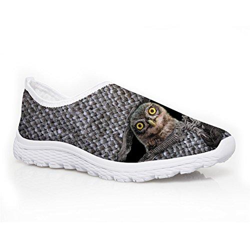 Showudesigns Cute Animal Design Slip-on Running Shoes Women's Lightweight Sneaker Grey Animal 6 cH5BJt