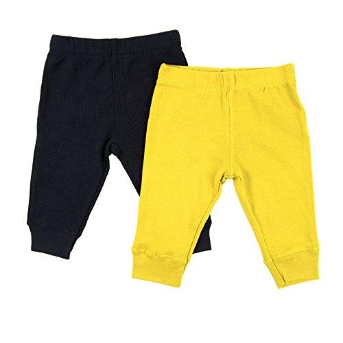 Leveret Baby Legging 2 Pack Navy & Yellow 18 Months ()