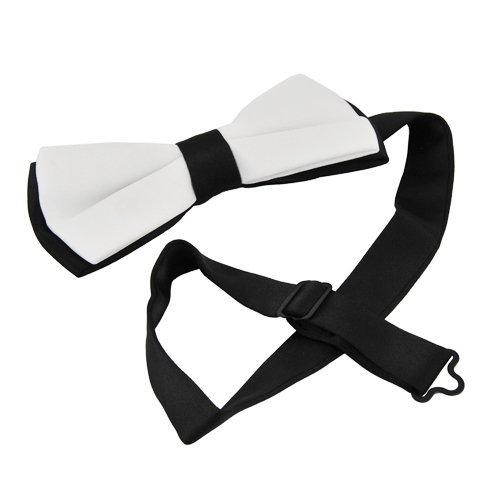 SamWay 2PCS Mens Classic Style Silk Bow Tie Cravat Necktie Bowtie