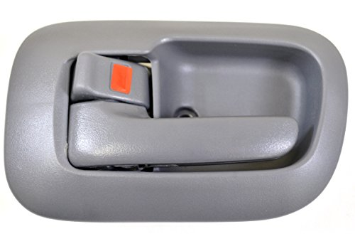 Gray Inside Front Driver - PT Auto Warehouse TO-2530G-LS - Inside Interior Inner Door Handle/Trim, Gray - Driver Side Front