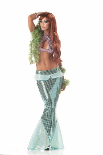 California Costumes Women's Mesmerizing Mermaid,Green,Medium Costume
