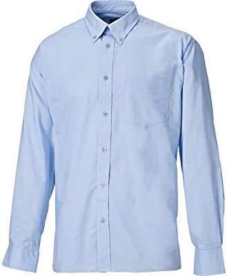 Dickies SH64200-LB-19.5 Oxford - Camisa de manga larga (talla 19,5), color azul claro: Amazon.es: Industria, empresas y ciencia