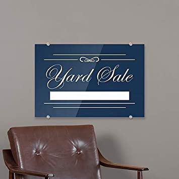 CGSignLab 24x6 Stripes Blue Premium Brushed Aluminum Sign for Lease 5-Pack