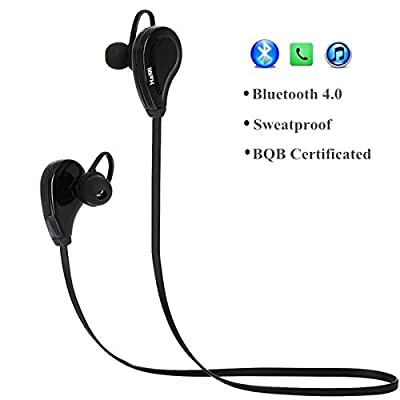 Bluetooth Headphones,HaMi Noise Cancelling Headset Wireless Stereo Earbuds with Microphone Gym Running Sports Sweatproof For Android IOS Devices