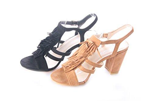 Mojoshu - Chaussures À Talons Femme, Couleur Noire, Taille 39