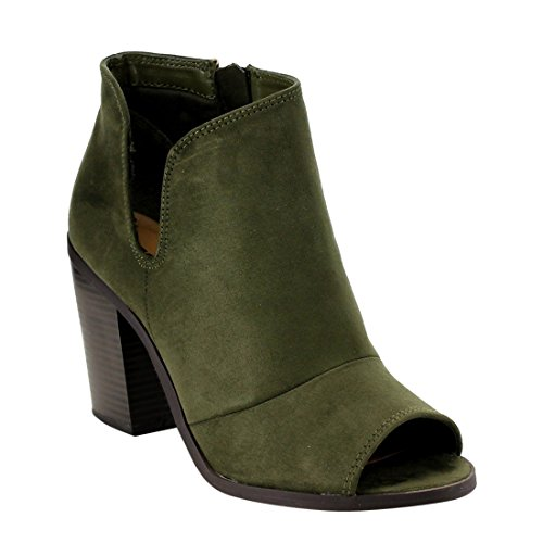 Soda Womens Stacked Block Booties product image
