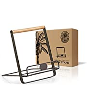 Regal Trunk Metal Cookbook Holder Stand - Recipe Book Holder - Adjustable And Foldable Cookbook Stand For Kitchen Counter - Book Holders For Reading Hands Free - Ipad Stand Or Mini Easel Stand