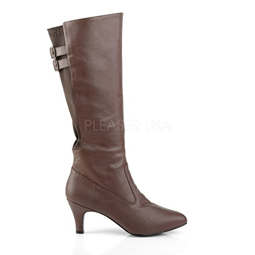 2018 Label Higher Big Brown Boots Pleaser matte Heels Womens Size Womens brown Knie Pink Divine tqpPrq