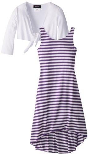 Amy Byer Girls 7-16 Stripe Twofer Dress
