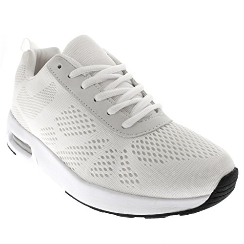 Mettersi In Forma Donna Running Gym Walking Fitness Sportivo Sneakers Ammortizzate Bianche / Bianche / Bianche