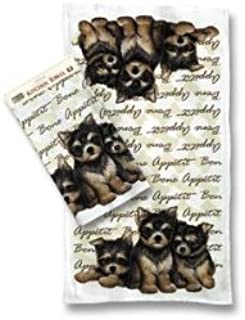 product image for Yorshire Terrier Yorkie Puppies Dog Kitchen Towel