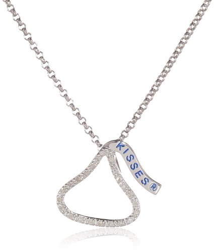 Hershey Jewelry Sterling Silver Diamond 0.12cttw Hershey'...