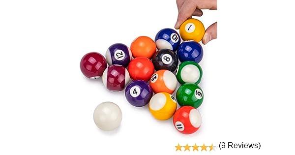Mini bolas de billar | 1.5 pulgadas bolas para mesa y mesas de billar en miniatura independiente | bolas de resina real actúan como bolas de tamaño completo: Amazon.es: Juguetes y juegos