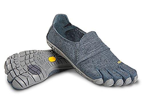 Vibram FiveFingers Mens CVTHemp Barefoot Shoes Navy  Grey 40  Premium Toesock Bundle  AO08LOIAB