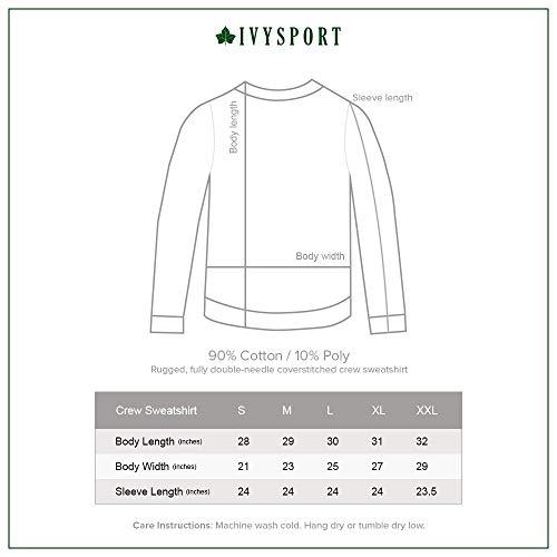 cc7aa6e9 Ivysport Yale University Sweatshirt Classic Logo, 90% Cotton 10% Polyester,  Navy,