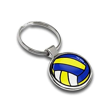 Llavero Deporte Voleibol Balón de metal Keyring Llave de Coche ...