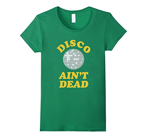Boogie Queen Disco Costumes (Womens Funny Retro Disco Dancing T Shirt Gift for 70s Disco Dancer XL Kelly Green)