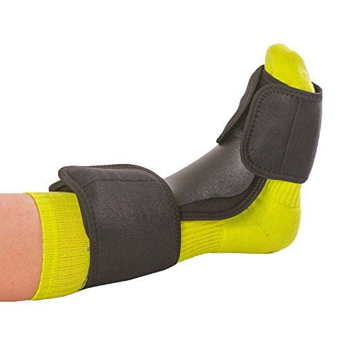 BraceAbility Dorsal Night Splint | Plantar Fasciitis Pain Relief, Foot Drop Brace for Sleeping, and Achilles Tendon Stretcher Boot for Nighttime Ankle Dorsiflexion (S/M)
