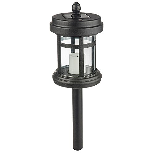 Hampton Bay Solar Powered Black LED Cast Aluminum Path Light