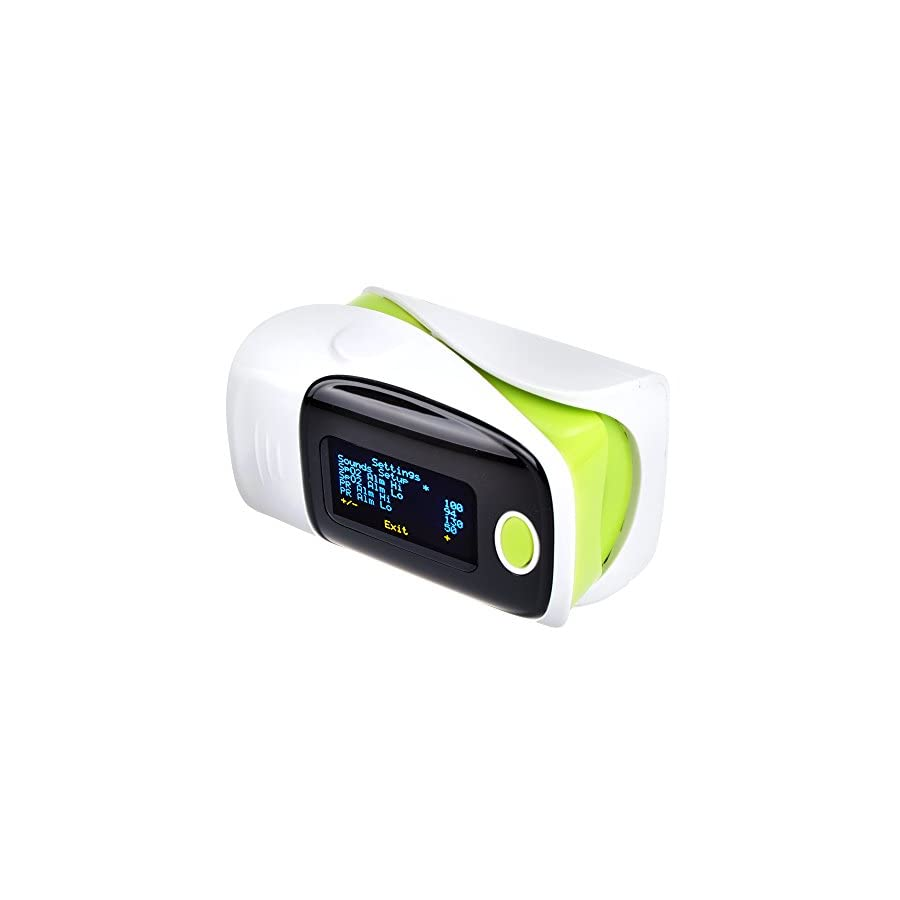 Elera FDA Fingertip Pulse Oximeter Oled Display Sports Instant Read Digital Pulse Oximeter Oxygen Sensor Pulse Rate Monitor With lanyard Green color