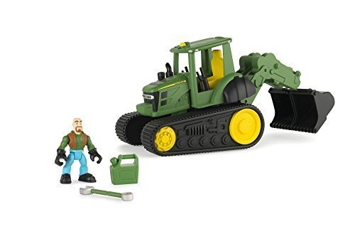 [Ertl John Deere Gear Force Tracked Tractor With Backhoe by TOMY] (Tracked Tractor)
