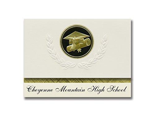 Signature Announcements Cheyenne Mountain High School (Colorado Springs, CO) Graduation Announcements, Presidential Elite Pack 25 Cap & Diploma Seal. Black & Gold. ()