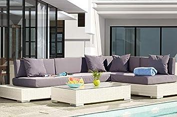 Au jardin de Chloé - Grand mobilier canapé de Jardin avec Angle et ...