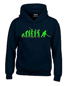 EISHOCKEY Evolution Kinder Sweatshirt mit Kapuze HOODIE schwarz-green, Gr.140cm
