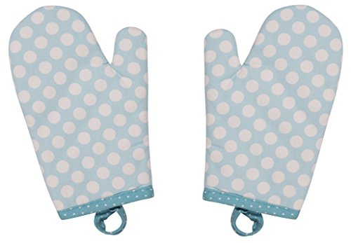 Handstand Kitchen Child's 100% Cotton Shell Pretty Polka Dot Pair of Oven ()