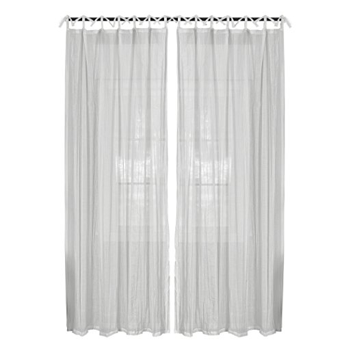 Elrene Home Fashions 026865638820 Juvenile Tween Tab Top Sheer Single Panel Window Curtain Drape, 52