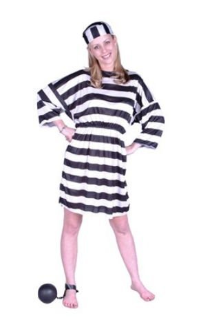 RG Costumes Convict Lady Costume, Plus