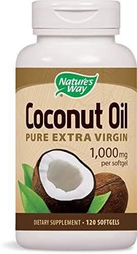 Nature's Way Coconut Oil Pure Extra Virgin 1,000 mg per softgel, 120 Softgels